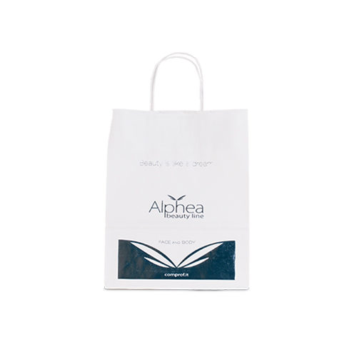 Paper shopper with twisted handles