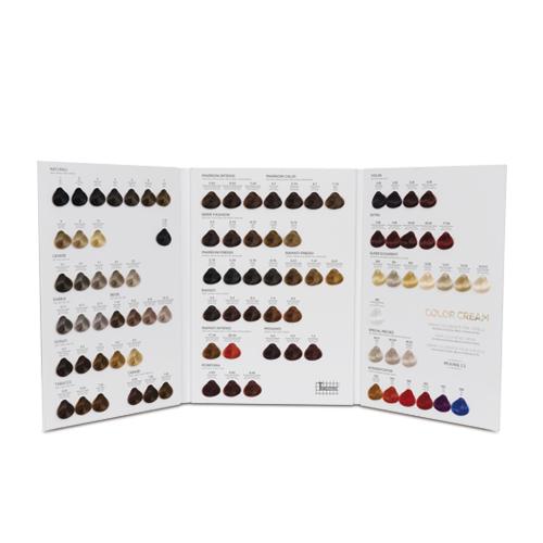 Cartella colore per parrucchieri 3 ante 92 ciocche a goccia
