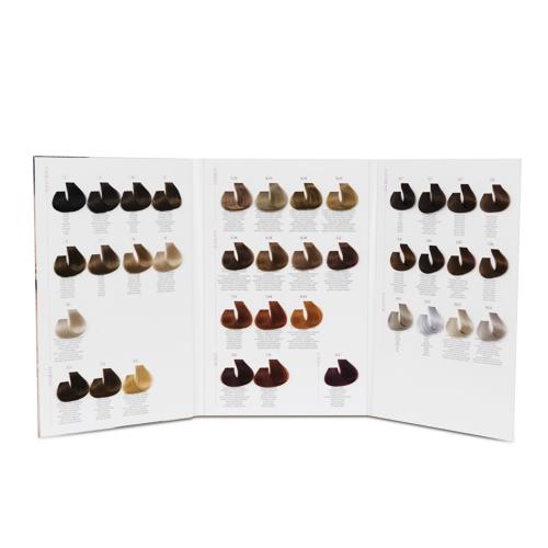 Cartella colore per parrucchiere 3 ante 38 ciocche a goccia