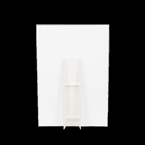 Cartello vetrina verticale con piede di sostegno posteriore