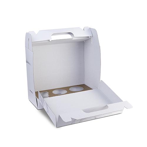 Scatola in cartone a forma di valigetta