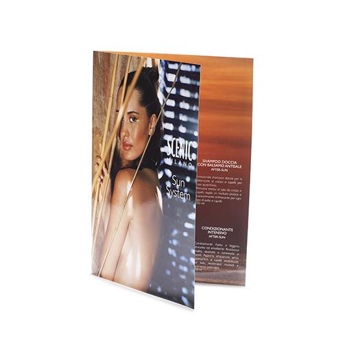 Brochure pieghevole due ante