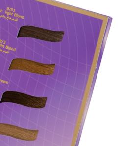 Cartella colore per parrucchieri 2 ante 32 ciocche incassate