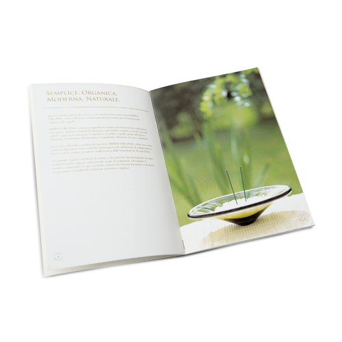 Brochure con rilegatura a doppio punto metallico